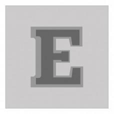 Letter E - Bas-Relief