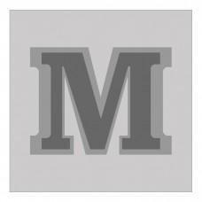 Letter M - Bas-Relief