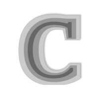 Letter C - High-Relief