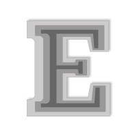 Letter E - High-Relief